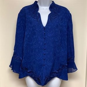 Drapers and Damon's Embroidered Blue Blazer